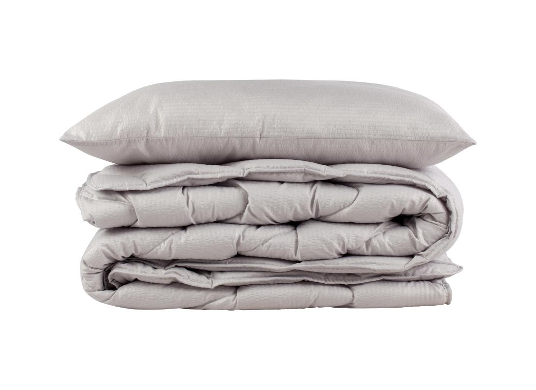 COMCO Seersucker antklodė 140×200 antialerginė pilka
