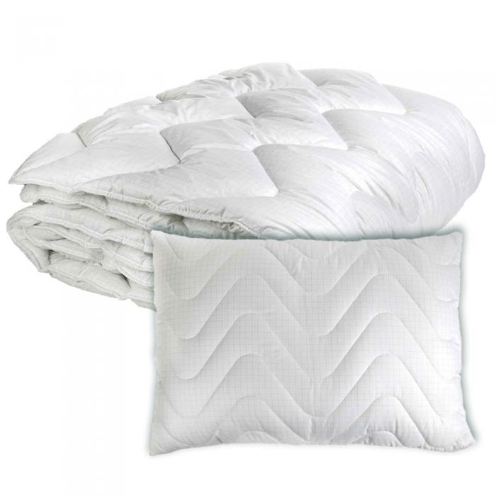 RINKINYS COMCO 140×200 Antistresinė viengulė antklodė ir pagalvė Carbon 50×70