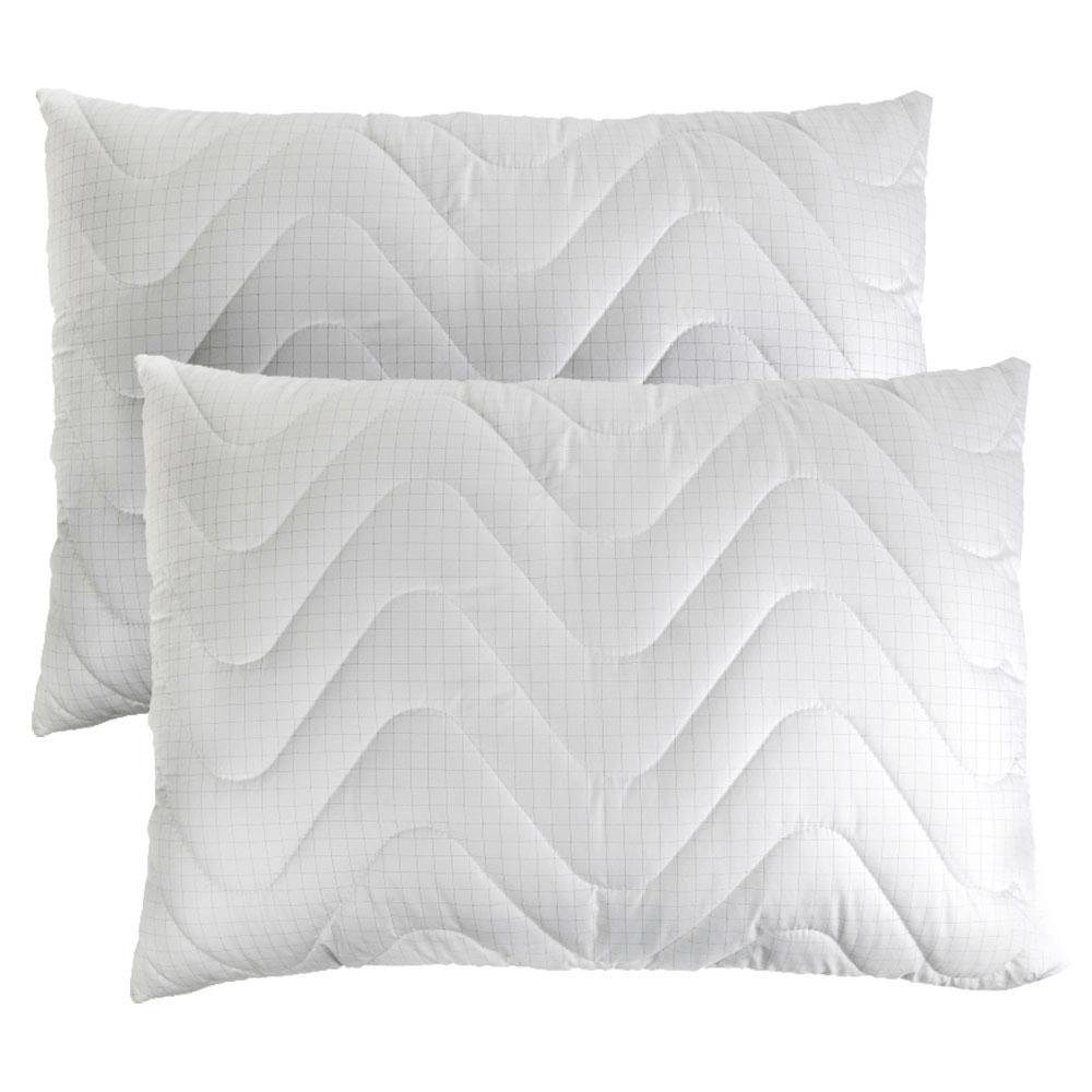 RINKINYS 2 antistresinės pagalvės Carbon 50×70, reguliuojamo aukščio