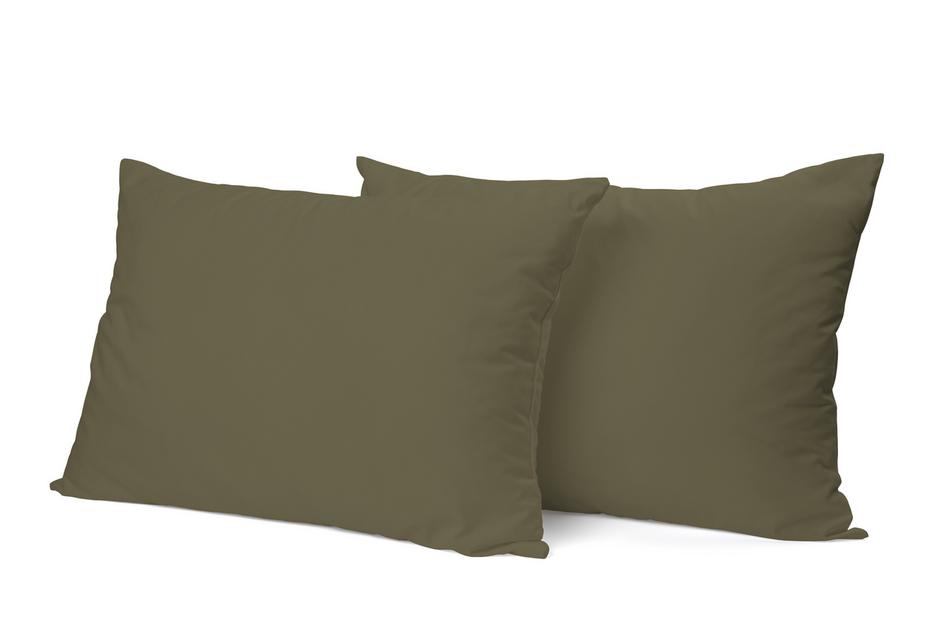 """Siuvamas PREMIUM satino pagalvės užvalkalas """"Chaki"""""""