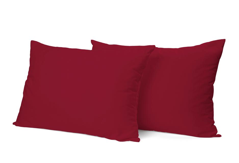 """Siuvamas PREMIUM satino pagalvės užvalkalas """"Red"""""""