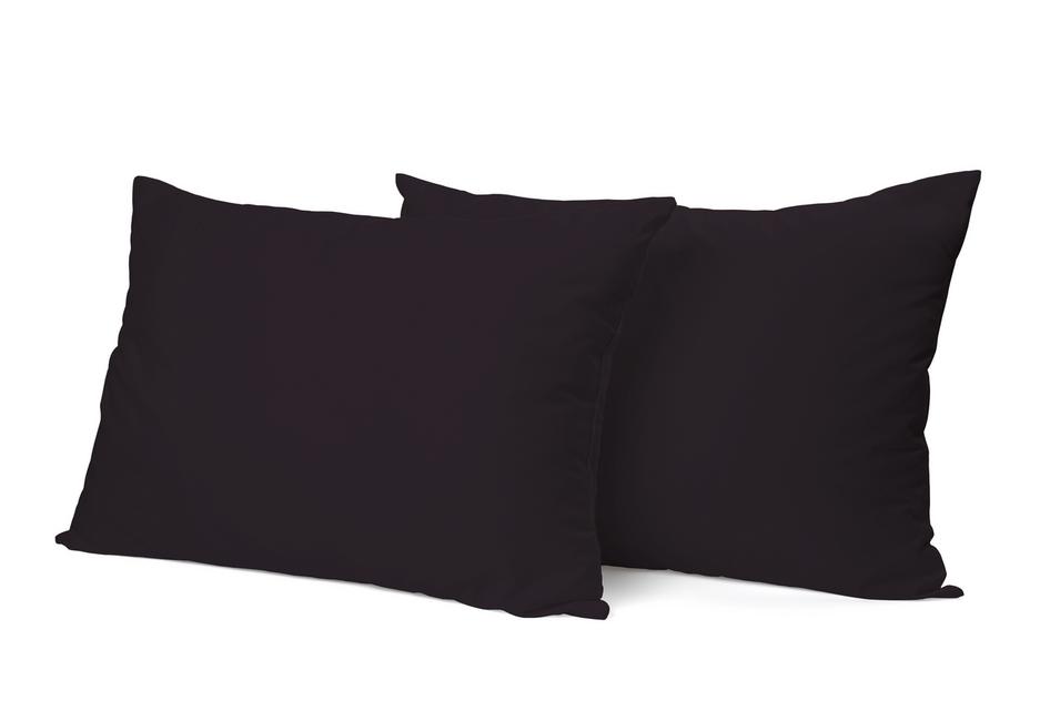 """Siuvamas PREMIUM satino pagalvės užvalkalas """"Black"""""""