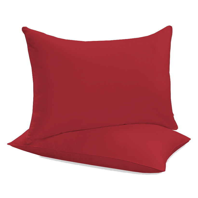 """Siuvamas drobinis pagalvės užvalkalas """"Pompeian red"""""""