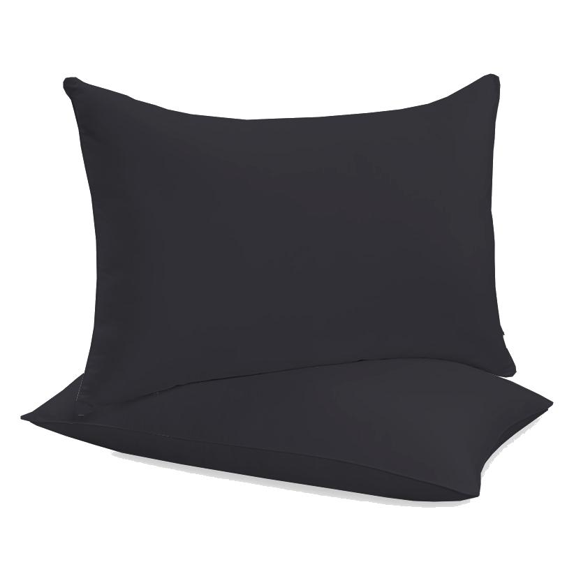 """Siuvamas drobinis pagalvės užvalkalas """"Black"""""""