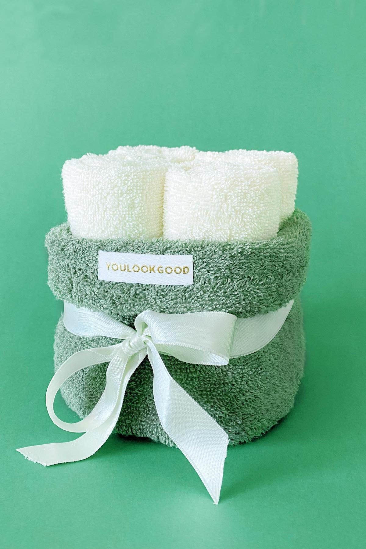 """5 dalių vonios rankšluosčių rinkinys """"Alyvuogė"""""""