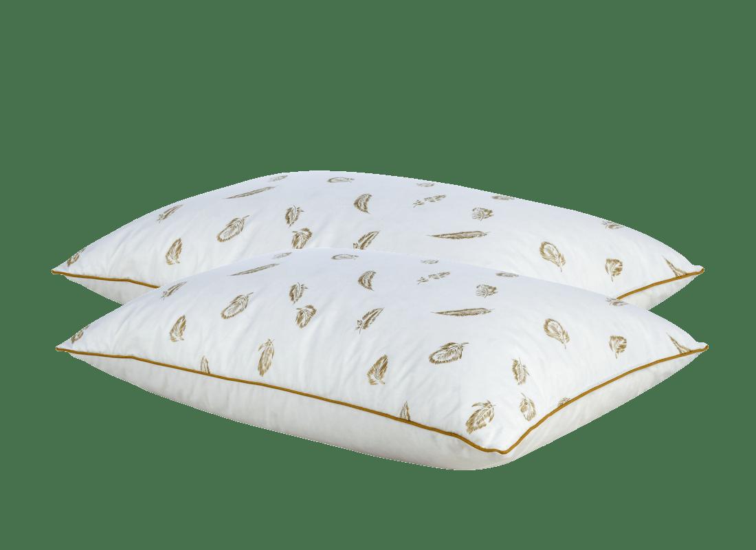 COMCO rinkinys 2 žąsų pūkų ir plunksnų pagalvės 50×70