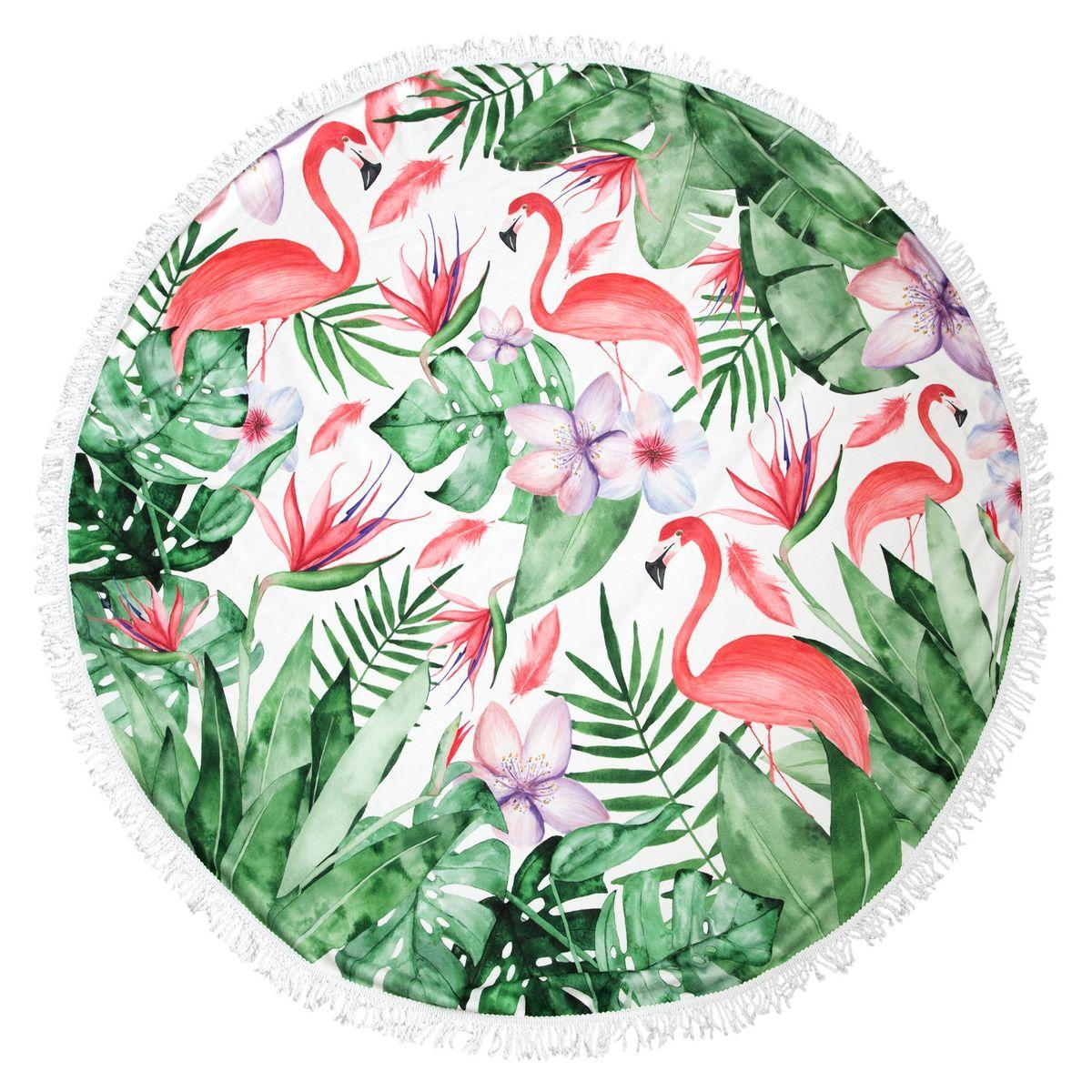 "Apvalus paplūdimio rankšluostis ""Flamingo"""