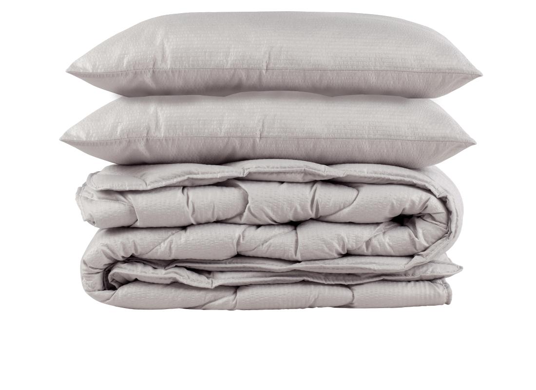 RINKINYS COMCO 200×220 Seersucker antklodė ir 2 pagalvės 50×70
